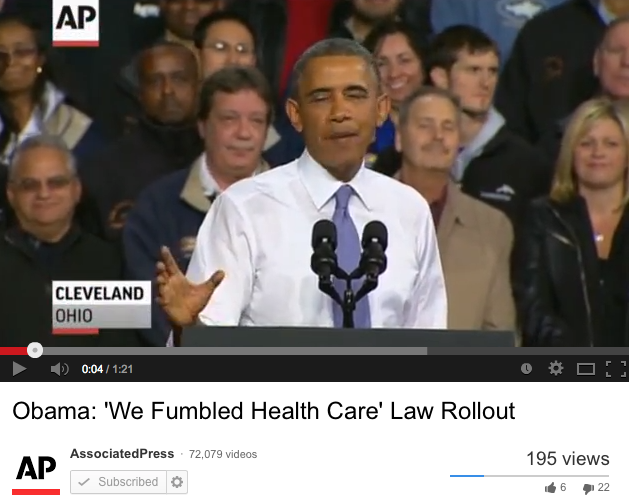Obama: 'We Fumbled Health Care' Law Rollout