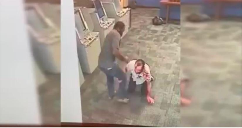 Shocking Video: Horrific Hatchet Attack At Manhattan Bank ATM By A Deranged Black Male